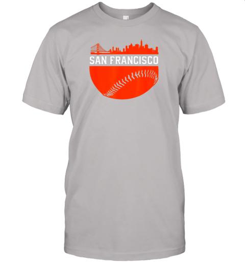 hvol san francisco baseball vintage sf the city skyline gift jersey t shirt 60 front ash