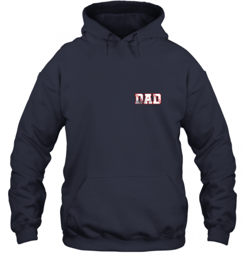 xpv2 mens baseball inspired dad fathers day distressed hoodie 23 front navy