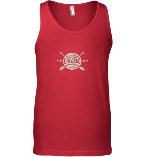 au70 chicago illinois il shirt vintage baseball graphic unisex tank 17 front red