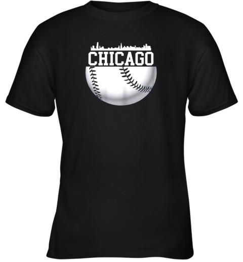 Vintage Downtown Chicago Shirt Baseball Retro Illinois State Youth T-Shirt