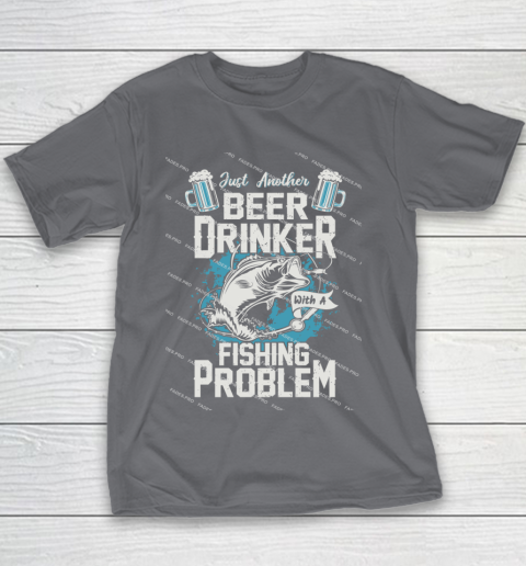 Beer Lover Funny Shirt Fishing ANd Beer Youth T-Shirt 5