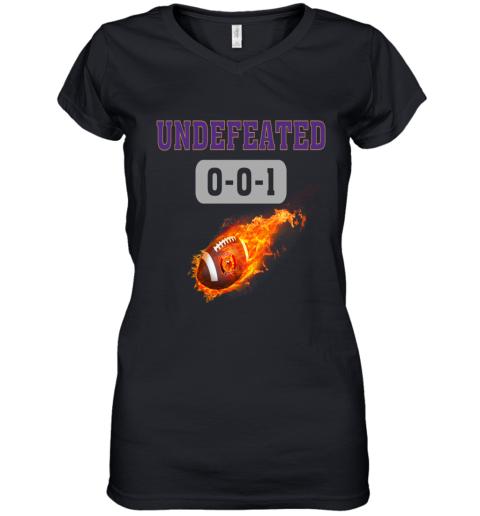 NFL MINNESOTA VIKINGS LOGO Undefeated Women's V-Neck T-Shirt