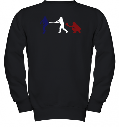 Baseball USA Flag American Tradition Spirit Youth Sweatshirt