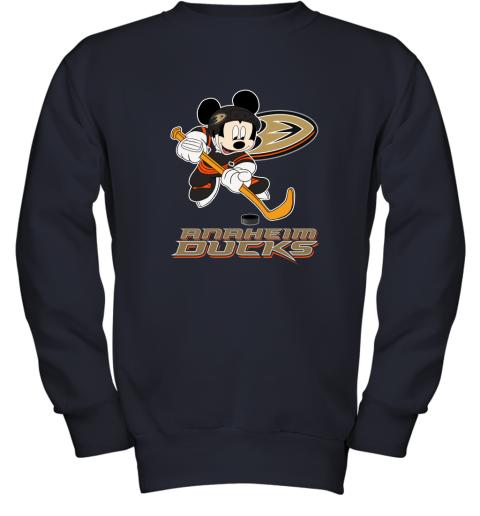 mqwq nhl hockey mickey mouse team anaheim ducks youth sweatshirt 47 front navy