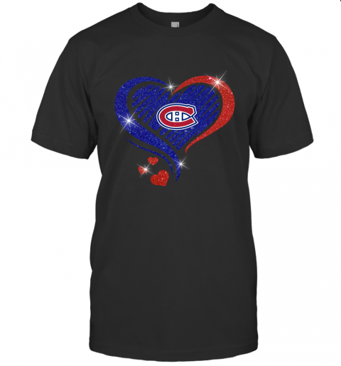 Montreal Canadiens Glitter Heart Shape  Lovely and True Gift for Fans
