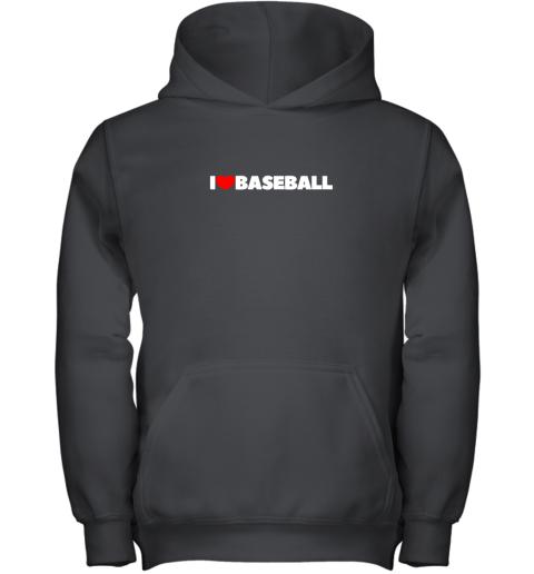 I Love (Heart) Baseball Youth Hoodie