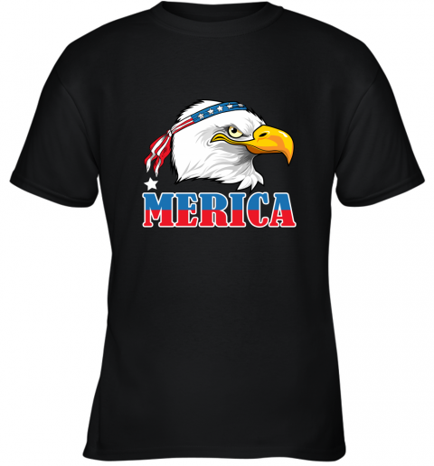 Eagle Mullet 4th Of July American Flag Merica USA Youth T-Shirt