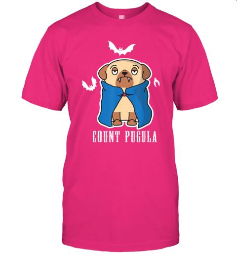 Count Pugula Funny Halloween Pug Dog Dracula Vampire Gift T-Shirt