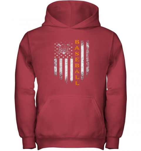 cl59 vintage usa baseball distressed american flag patriotic gift youth hoodie 43 front red
