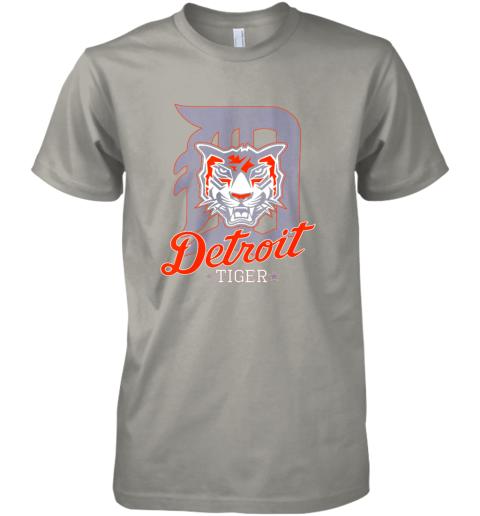 wwys tiger mascot distressed detroit baseball t shirt new premium guys tee 5 front light grey