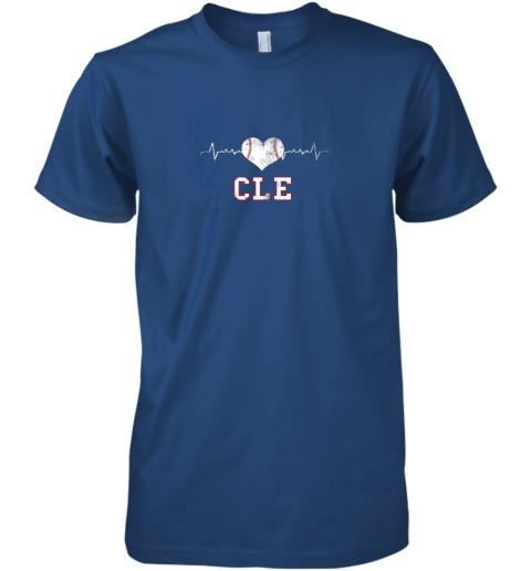 icno cleveland baseball shirt cleveland ohio heart beat cle premium guys tee 5 front royal