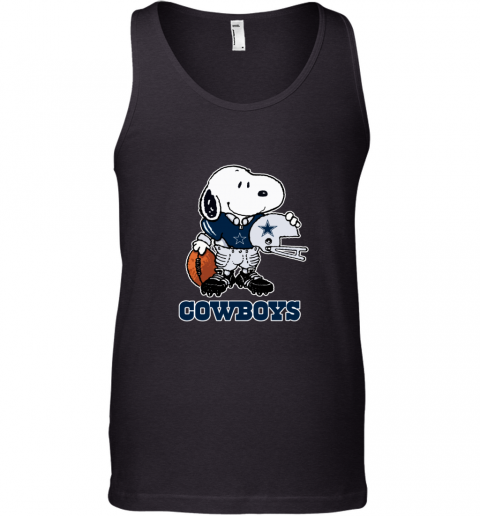 Snoopy Strong And Proud Dallas Cowboys Player NFL Tank Top
