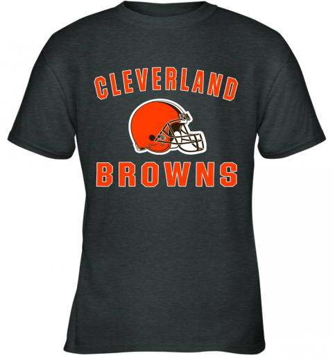 ab4y cleveland browns nfl line by fanatics branded brown victory youth t shirt 26 front dark heather