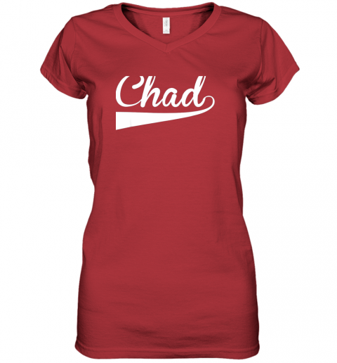 7jwp chad country name baseball softball styled women v neck t shirt 39 front red