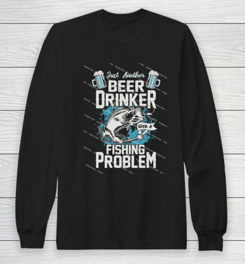 Beer Lover Funny Shirt Fishing ANd Beer Long Sleeve T-Shirt