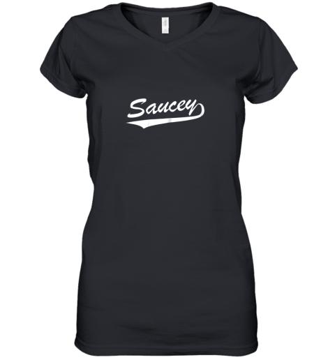 SAUCEY SWAG BASEBALL Women's V-Neck T-Shirt