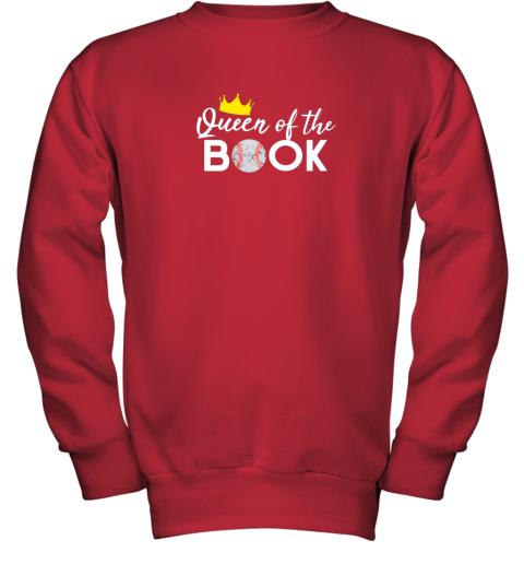 hoy3 scorekeeper baseball team scorebook queen youth sweatshirt 47 front red