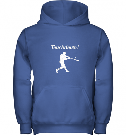 htlv touchdown funny baseball youth hoodie 43 front royal