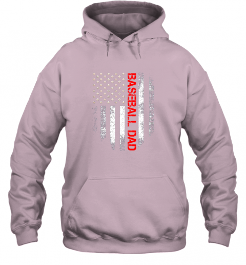 lj8q vintage usa american flag proud baseball dad player hoodie 23 front light pink