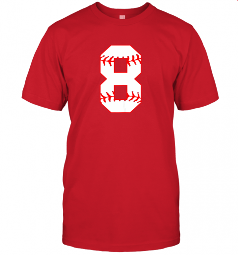 sl1c cute eighth birthday party 8th baseball shirt born 2011 jersey t shirt 60 front red