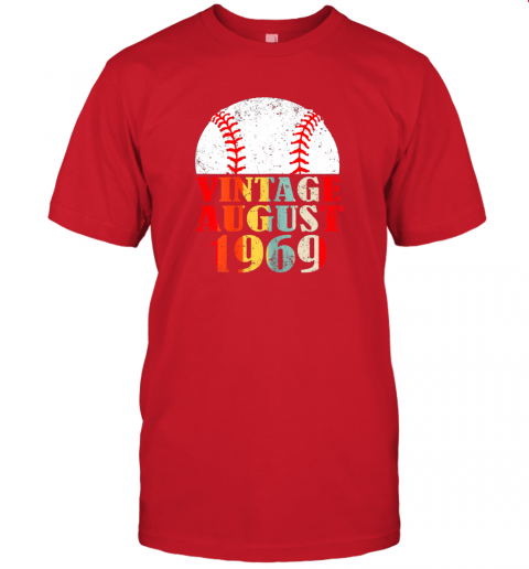 gxor born august 1969 baseball shirt 50th birthday gifts jersey t shirt 60 front red
