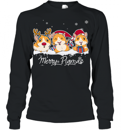 Merry Pigmas Funny Guinea Pig Christmas Youth Long Sleeve