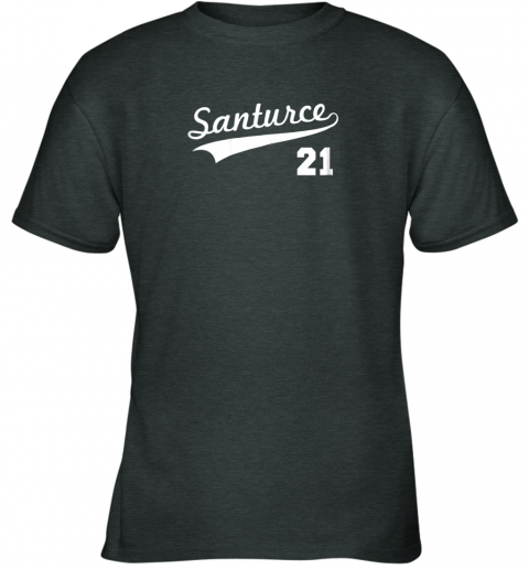 kwp2 vintage santurce 21 puerto rico baseball youth t shirt 26 front dark heather