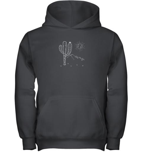 Cactus Baseball Bat Image Shirt for America's Pastime Fan Youth Hoodie