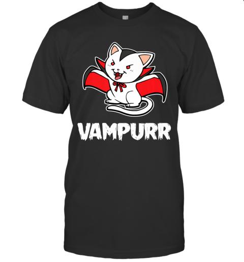 Vampurr Halloween Costume Funny Vampire Kitten Cat Dracula Premium T-Shirt