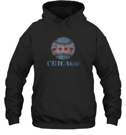 Vintage Chicago Baseball Flag Hoodie