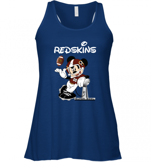 ptyr mickey redskins taking the super bowl trophy football flowy tank 32 front true royal