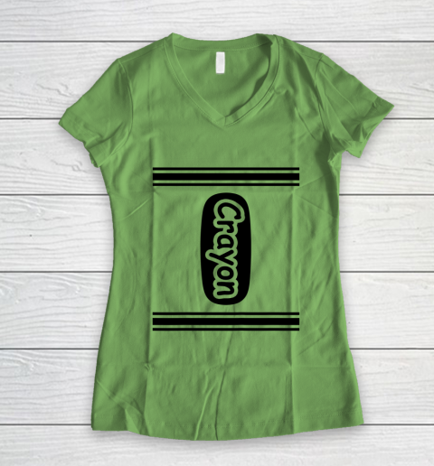 Crayon Women's V-Neck T-Shirt 5