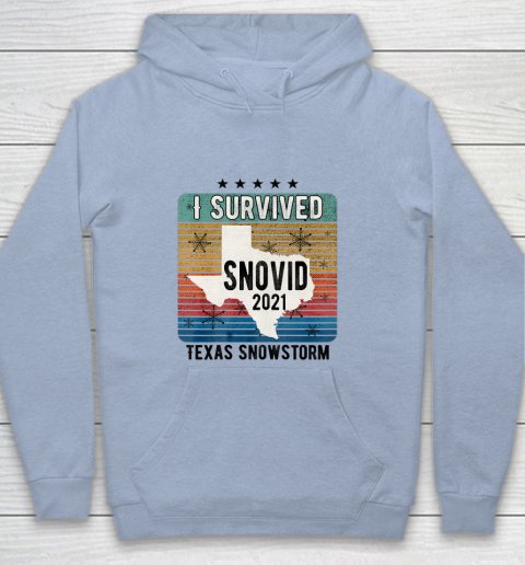 I Survived Snovid 2021 Texas snow Snowstorm Texas Strong Youth Hoodie 5