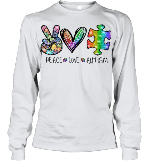 Peace Love Autism Youth Long Sleeve