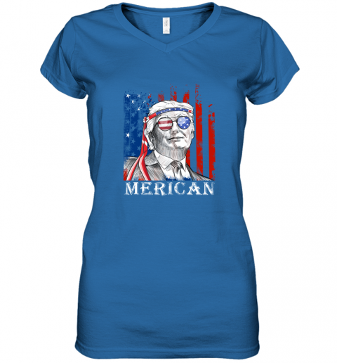 omvw merica donald trump 4th of july american flag shirts women v neck t shirt 39 front royal
