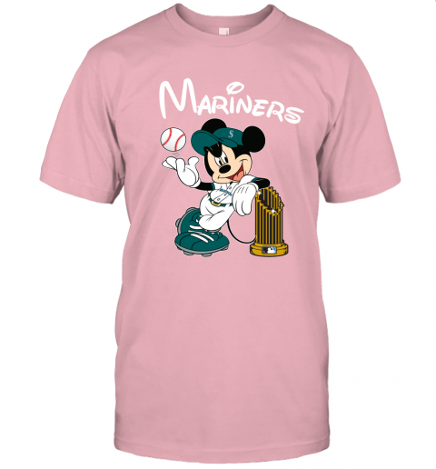 tufe seattle mariners mickey taking the trophy mlb 2019 jersey t shirt 60 front pink