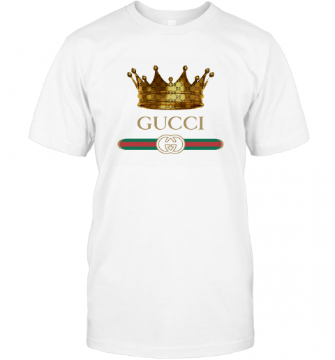 King Gold Gucci Logo T-Shirt