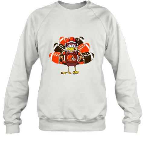 Cleveland Browns  Thanksgiving Turkey Football NFL Sweatshirt