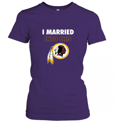ol4w i married into this washington redskins football nfl ladies t shirt 20 front purple