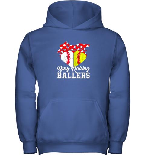 wusf busy raising ballers softball baseball youth hoodie 43 front royal