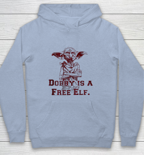 Kids Harry Potter Dobby Is A Free Elf Portrait Youth Hoodie 5