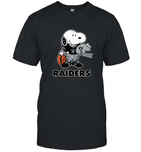 Snoopy A Strong And Proud Oakland Raiders Player NFL Unisex Jersey Tee