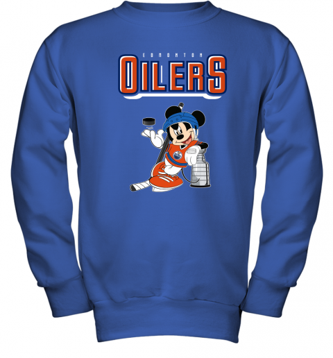 0ud6 mickey edmonton oilers with the stanley cup hockey nhl shirt youth sweatshirt 47 front royal