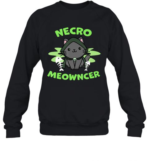 Necromeowncer  Necromancer Cat Tabletop RPG Halloween Sweatshirt