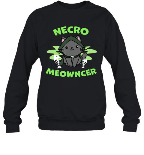Necromeowncer  Necromancer Cat Tabletop RPG Halloween Sweatshirt