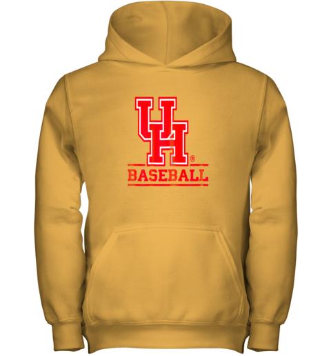 23lf university of houston cougars baseball shirt youth hoodie 43 front gold