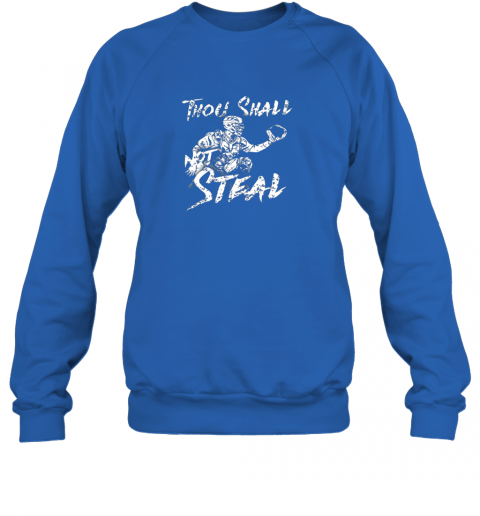 l0bp thou shall not steal baseball catcher sweatshirt 35 front royal