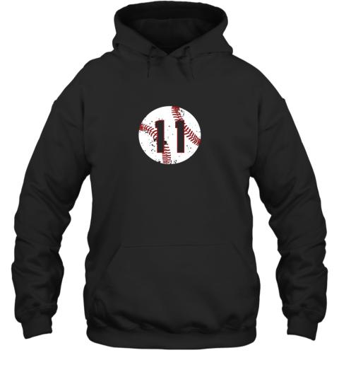 Vintage Baseball Number 11 Shirt Cool Softball Mom Gift Hoodie