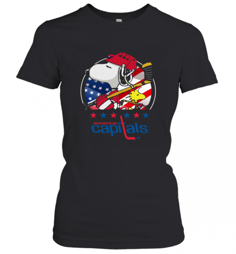 Washington Capitals Snoopy And Woodstock NHL Women's T-Shirt