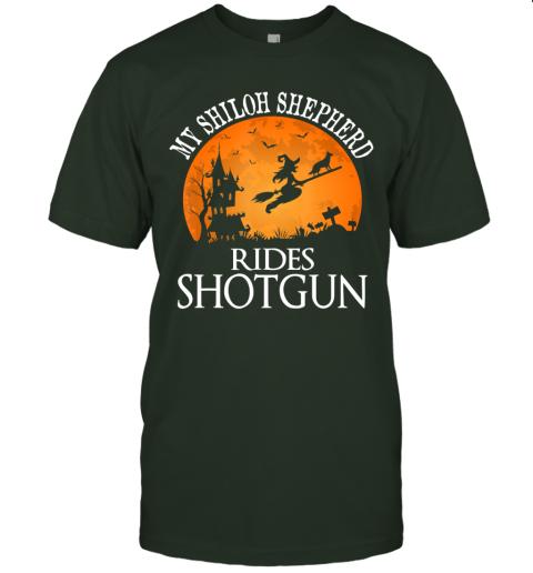 Shiloh Shepherd Rides Shotgun Dog Lover Halloween Party Gift T-Shirt